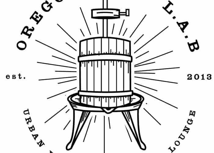 Oregon Wine LAB Wine Press Logo