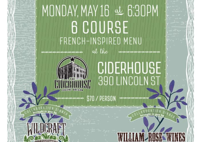 Lincoln St Soiree food pairing with William Rose Wines and Wildcraft Cider House