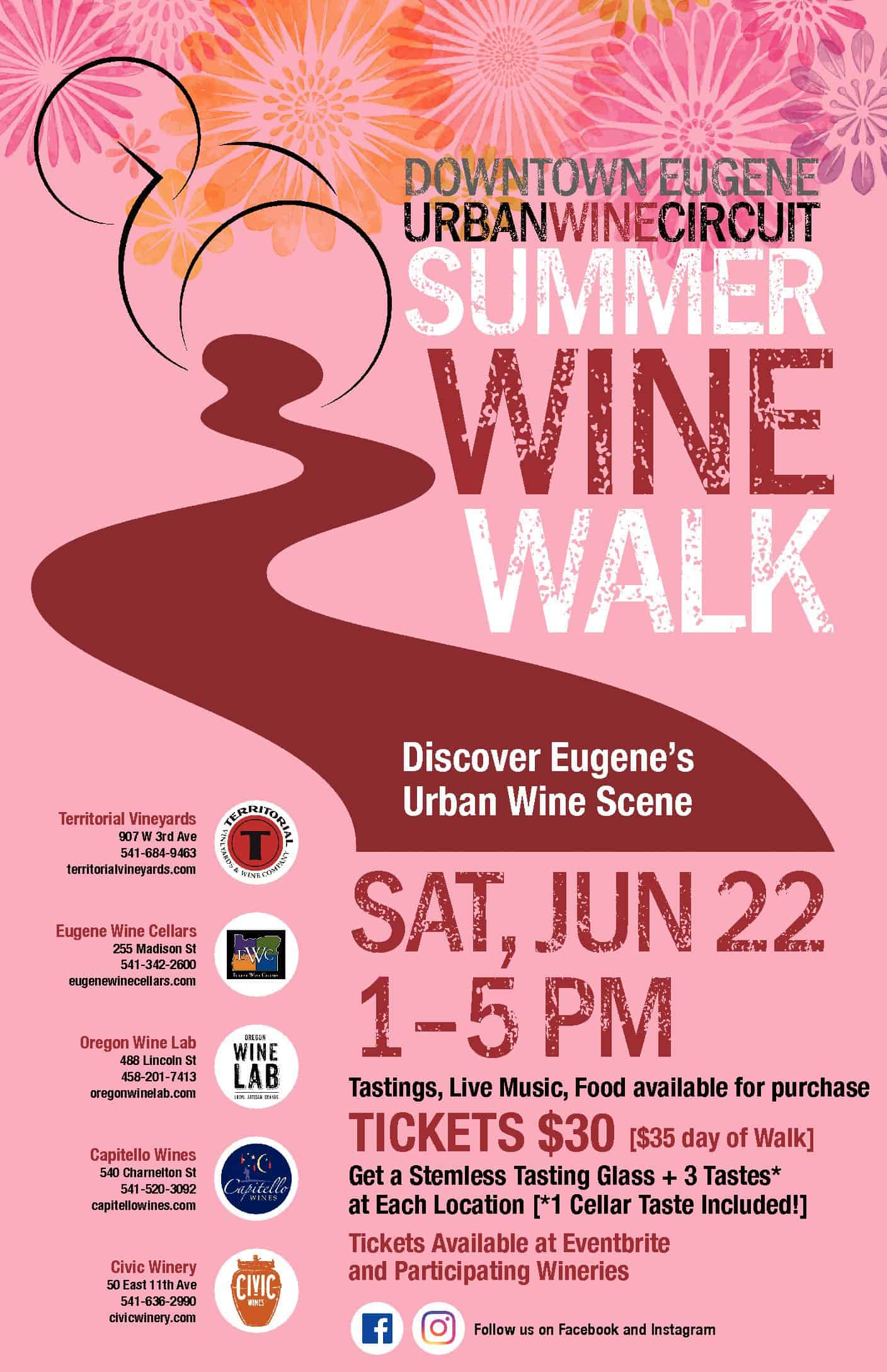 Urban Wine Circuit Summer Walk - Oregon Wine LAB